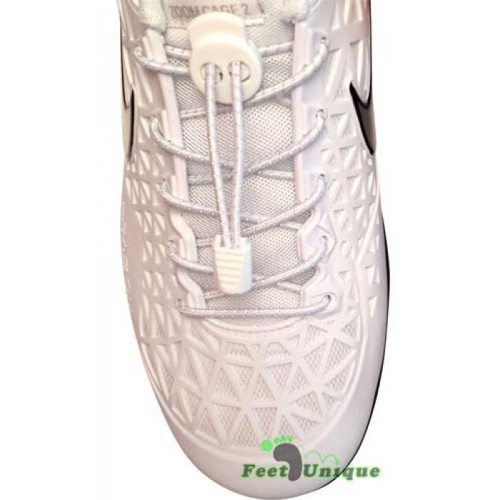 Cordones elásticos reflectantes blancos