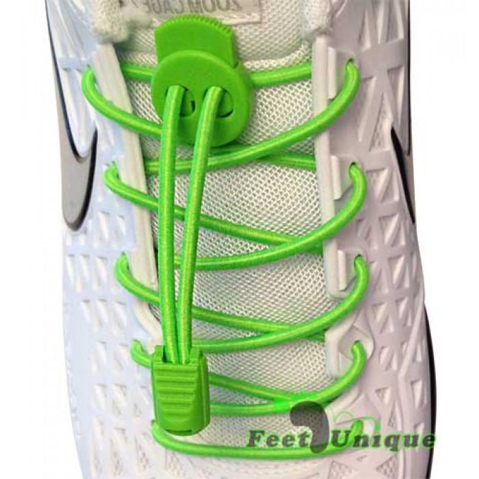 Cordones elásticos verdes