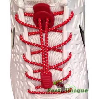 Cordones elásticos reflectantes rojos
