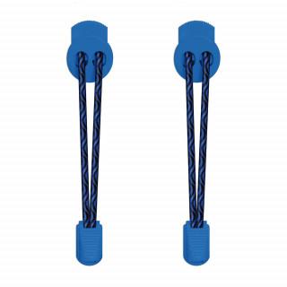 Cordones elásticos negros y azules
