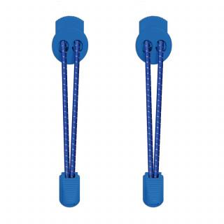 Cordones elásticos reflectantes azules