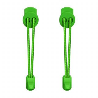 Cordones elásticos reflectantes verde neón