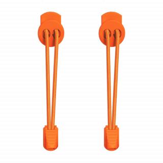 Cordones elásticos naranja neón