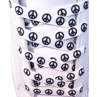 Cordones blancos de símbolos de la paz