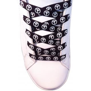 Cordones negros de símbolo de la paz