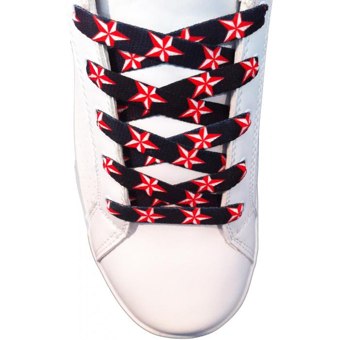 Cordones de estrellas rojas