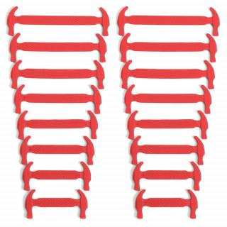 Cordones elásticos de silicona rojos