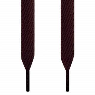Cordones extra anchos marrón oscuro