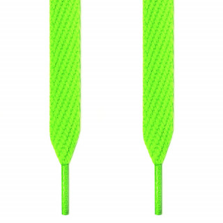 Cordones extra anchos verde neón