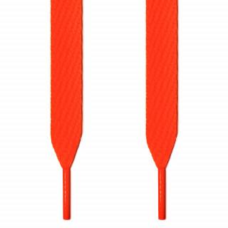 Cordones extra anchos naranja neón