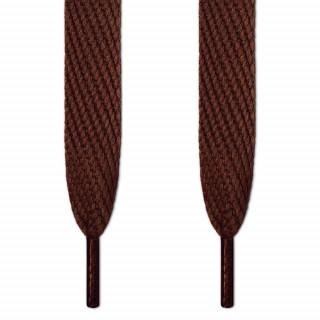 Cordones súper anchos marrones