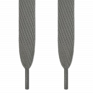 Cordones súper anchos gris oscuro