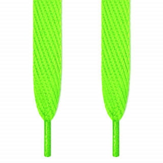 Cordones súper anchos verde neón