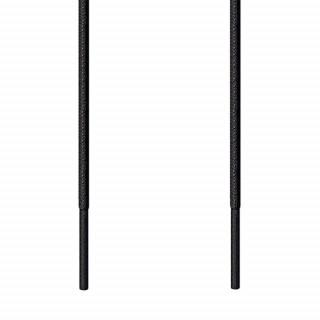 Cordones redondos finos negros