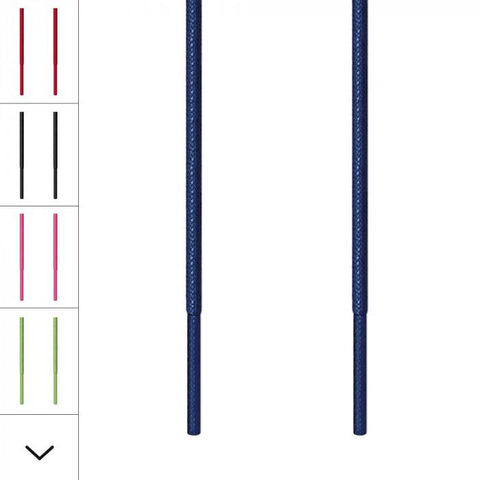 Cordones redondos finos azul marino
