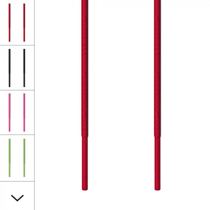 Cordones redondos finos rojos