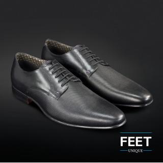 Cordones elásticos negros para zapatos de vestir