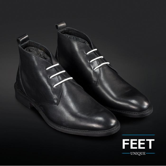 Cordones elásticos blancos para zapatos de vestir