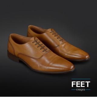 Cordones elásticos marrón oscuro para zapatos de vestir