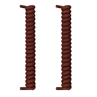 Cordones marrón oscuro en espiral