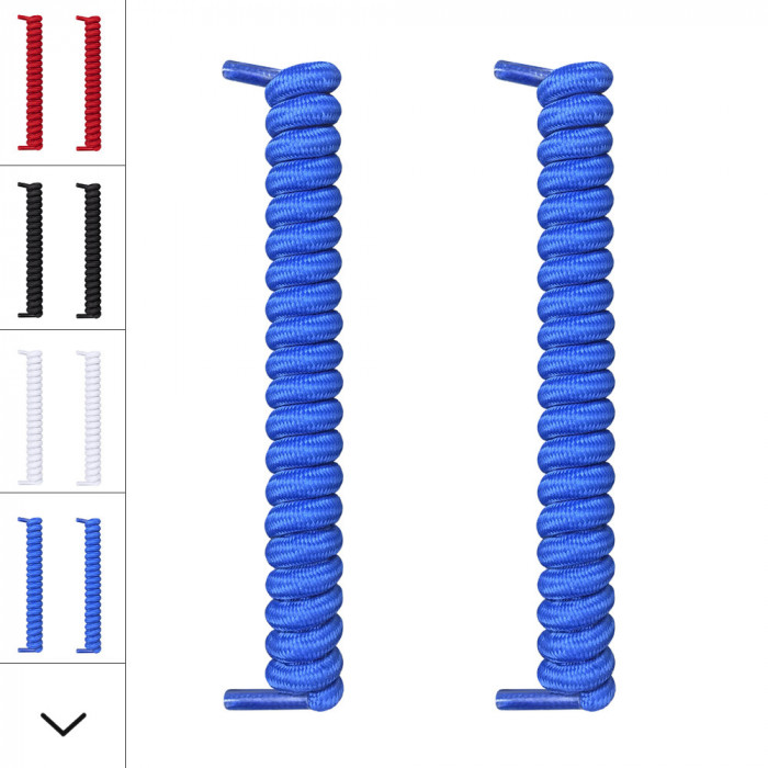 Cordones azules en espiral