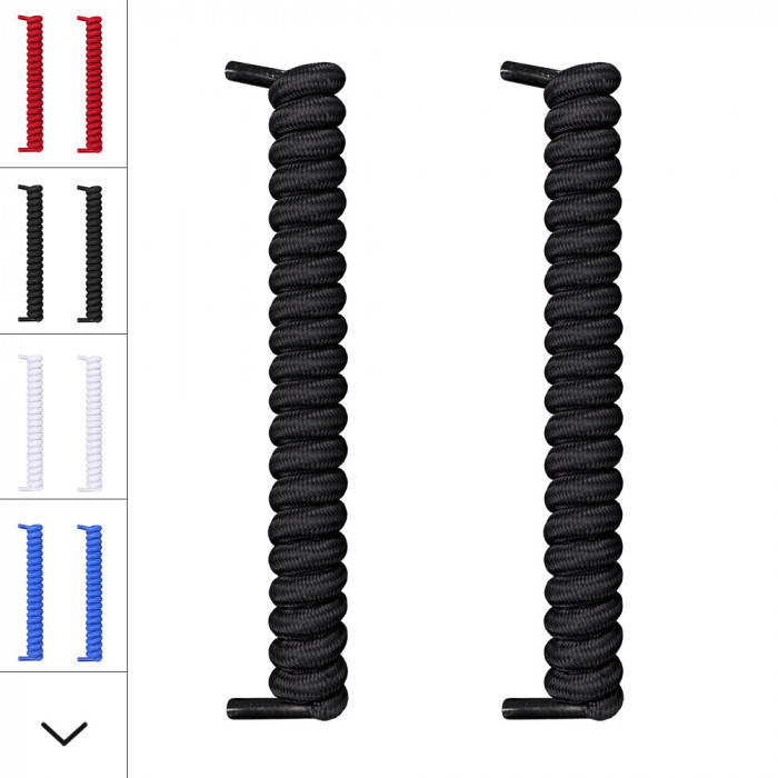 Cordones negros en espiral