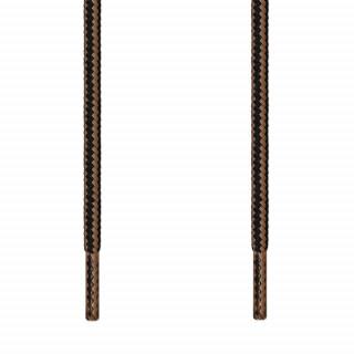Cordones redondos negro y marrón claro
