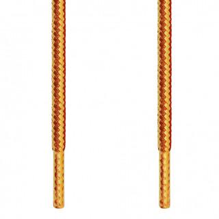 Cordones redondos marrones y amarillos