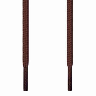 Cordones redondos marrón oscuro
