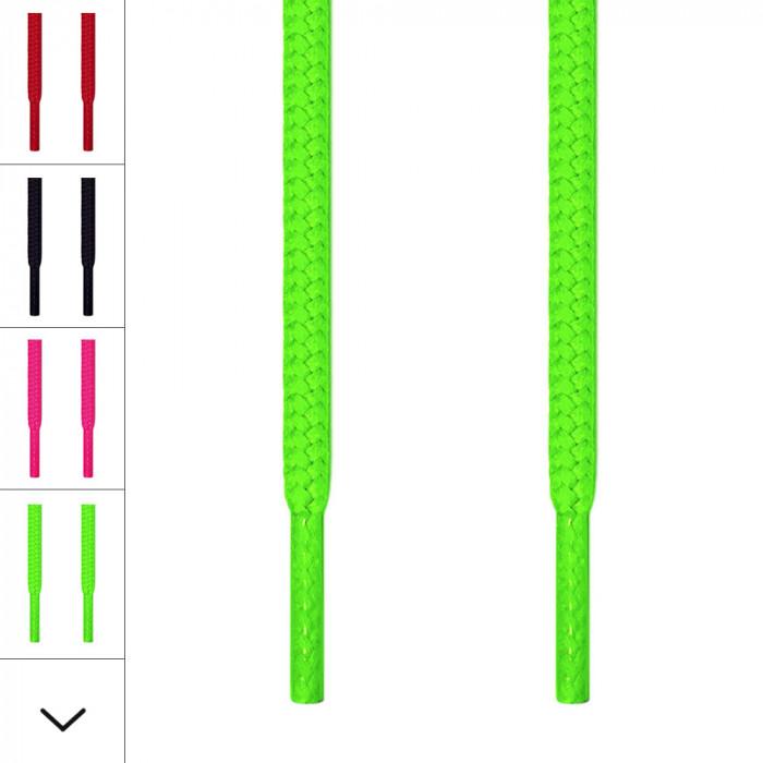 Cordones redondos verde neón