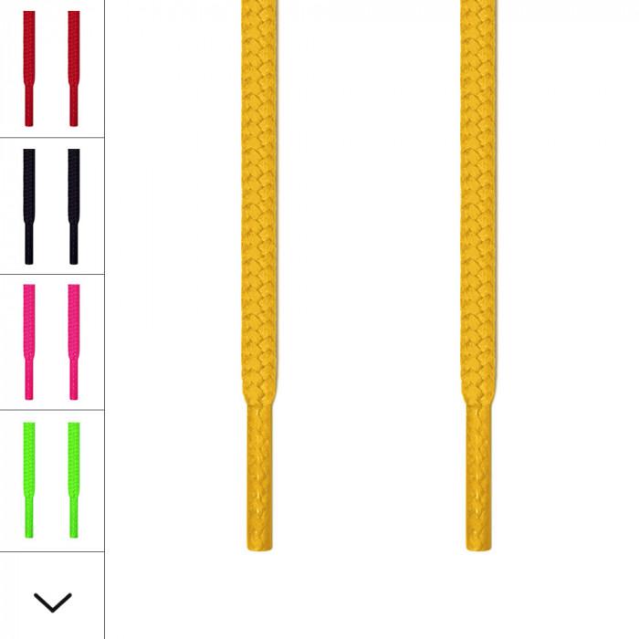 Cordones redondos amarillos