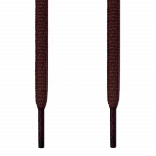 Cordones ovalados marrón oscuro