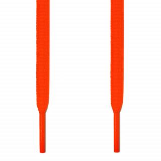 Cordones ovalados naranja neón