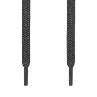 Cordones planos elásticos gris oscuro (sin atar)
