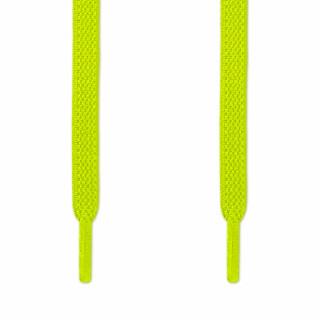 Cordones planos elásticos amarillo neón (sin atar)
