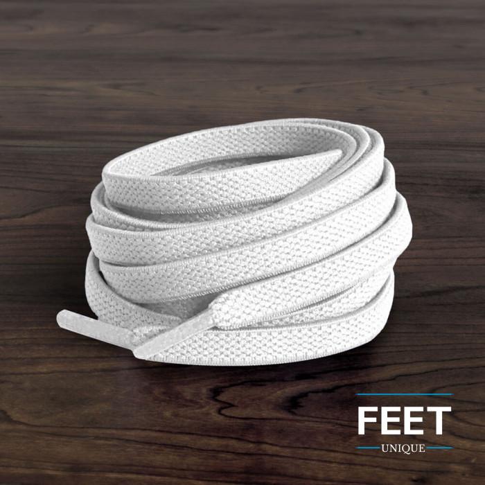 Cordones planos elásticos blancos (sin atar)
