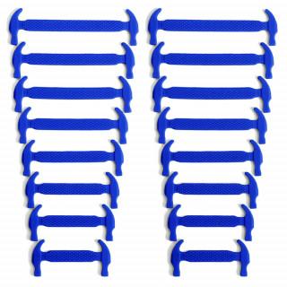Cordones elásticos de silicona azules