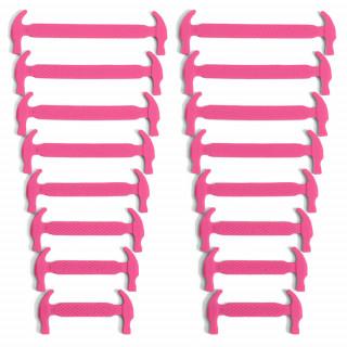 Cordones elásticos de silicona rosa fucsia