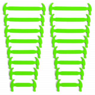 Cordones elásticos de silicona verde neón