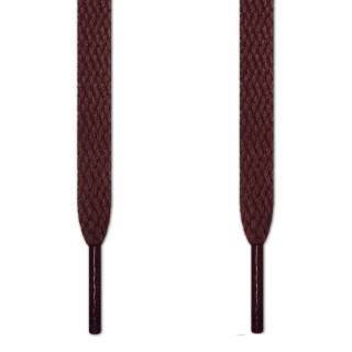 Cordones planos marrón oscuro