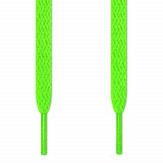 Cordones planos verde neón