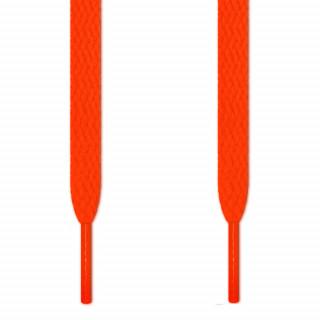 Cordones planos naranja neón