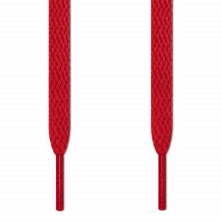 Cordones planos rojos