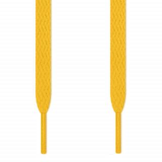 Cordones planos amarillos