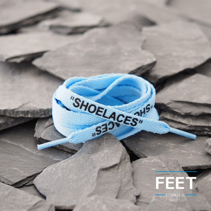 Cordones OFF-WHITE azul claro