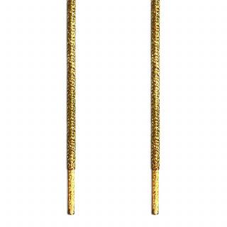 Cordones trenzados dorados