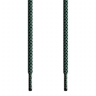 Cordones trenzados en verde y negro