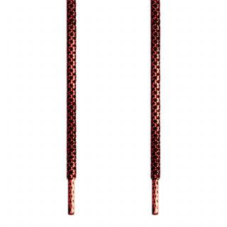 Cordones trenzados en rojo metalizado