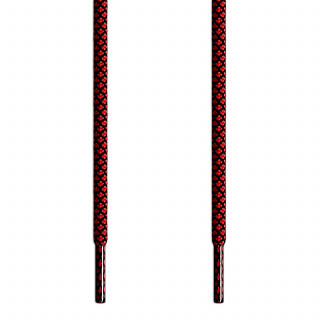 Cordones trenzados en rojo y negro