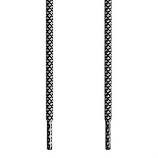 Cordones trenzados en blanco y negro